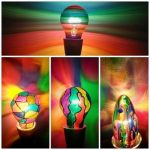 painted light bulbs